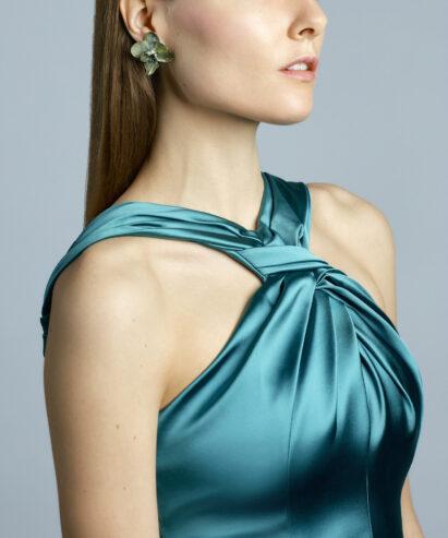 green orchid earrings